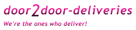 door2door deliveries, we're the ones who deliver!